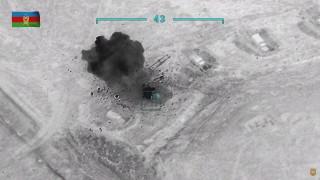 Азербайджан пусна видео от унищожена колона с бронирани машини на Армения