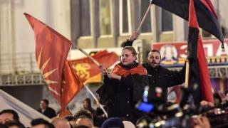ВМРО-ДПМНЕ изкара хиляди на протест срещу опита на левицата да състави правителство