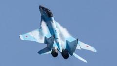 Двигател на изтребител МиГ-31 се запали при кацане