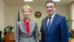 Министър Дашева прие президента на Европейския таекуондо съюз Сакис Прагалос