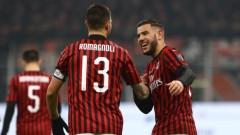 Милан без Златан победи СПАЛ с 3:0 за Купата на Италия