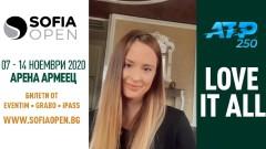 """""""Златното момиче"""" Християна Тодорова - посланик на Sofia Open 2020"""