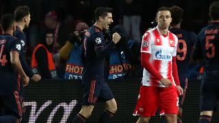 Байерн (Мюнхен) унижи Цървена звезда насред Белград, Левандовски вкара четири гола