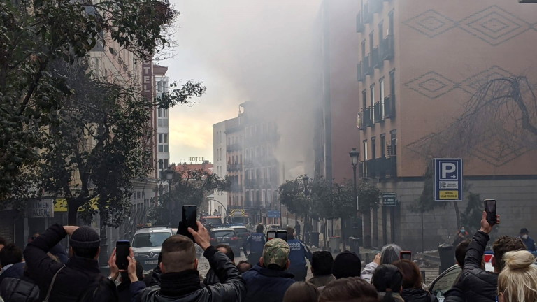 В центъра на Мадрид е станал мощен взрив, съобщиха няколко