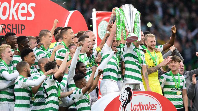 Селтик спечели требъл в Шотландия за трета поредна година. Във