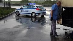 """Горящ бус затвори АМ """"Хемус"""" в посока София"""