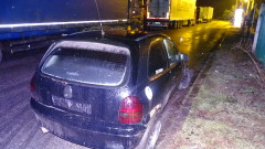 Полицията в Благоевград издирва двама след катастрофа