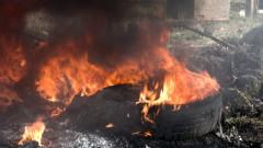 "Кола изгоря на АМ ""Тракия"""