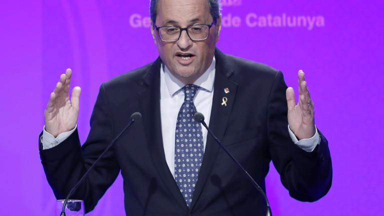 Лидерът на регионалното правителство на Каталуния призова Мадрид да започнат