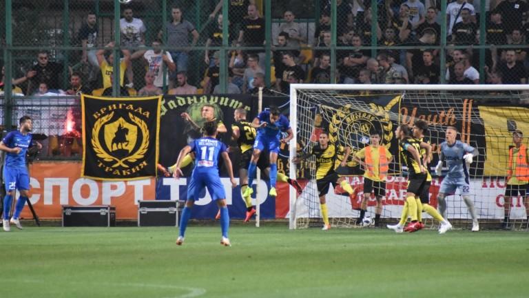 Ботев (Пловдив) - Левски 0:1, гол на Илия Димитров