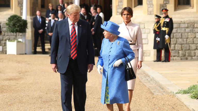 Ще спят ли Доналд и Мелания Тръмп при кралицата