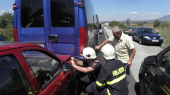 Верижна катастрофа по пътя Варна - Бургас