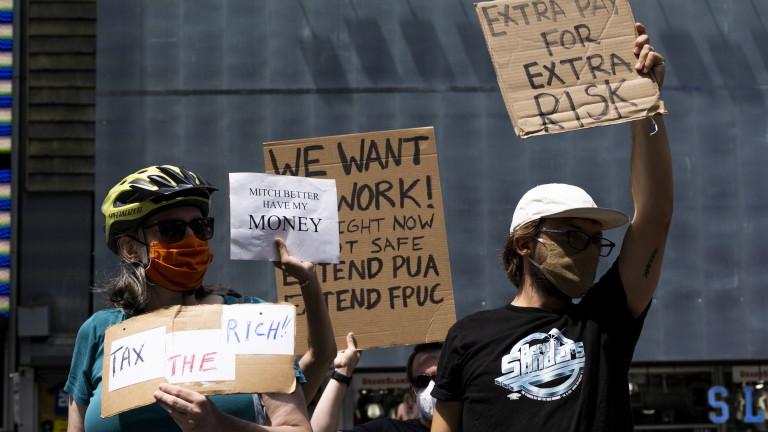Въпреки негативните ефекти, в САЩ ще продължат да плащат на хората, за да стоят безработни