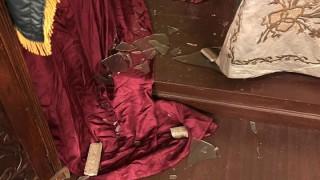 Неизвестен счупи прозорец на Софийската синагога