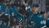 Сан Хосе победи Анахайм с 2-1 и затвори серията от първия плейофен кръг в NHL