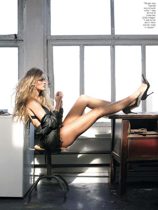 Жизел Бюндхен със секси фотосесия за сп. American Photo (галерия)