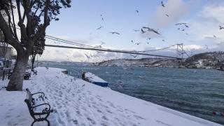 Тунджа заля стадиона в Одрин, снеговалеж блокира Истанбул