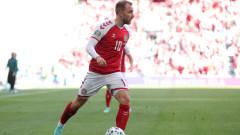 Кристиан Ериксен посети тренировката на Дания