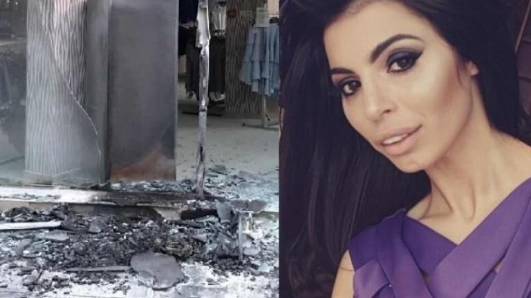Запалиха магазин на дизайнерката Мегз