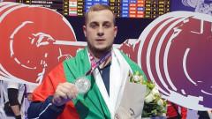 Сребро за Дейвид Фишеров в изтласкването на европейското по щанги в Москва