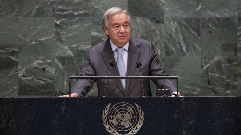 """Генсекът на ООН: Хората водят """"самоубийствена война"""" срещу природата"""