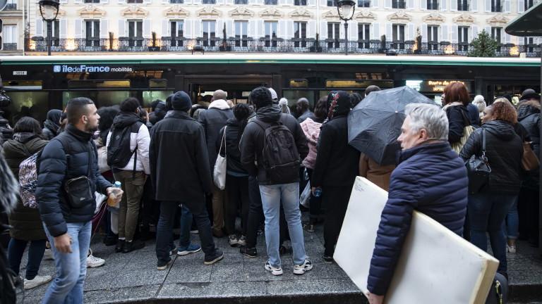 Четирите синдиката на транспортните работници във Франция призоваха към стачка