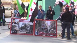 Живеещи у нас сирийци протестираха срещу Асад и Путин