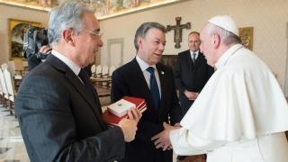 Папата се срещна с колумбийските лидери