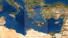 Две земетресения с магнитуд над 5 по Рихтер регистрирани на Крит