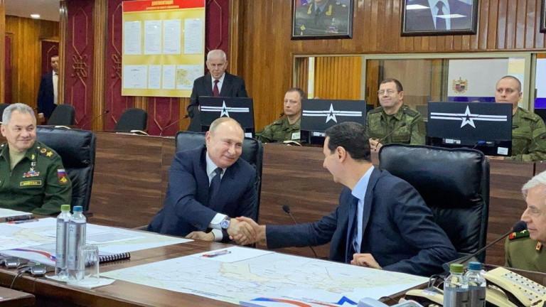 Президентът на Русия Владимир Путин се срещна с Башар Асад