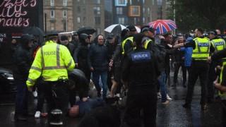 Размирици в Глазгоу след демонстрация в подкрепа на единството на Ирландия
