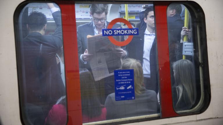 Снимка: Лондон казва не на бързите храни. Поне на рекламите в градския транспорт