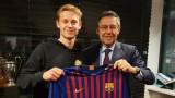 Френки де Йонг си избра номер в Барселона