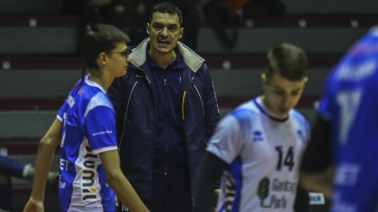 Владимир Николов отдаде на сервиса загубата на волейболния Левски от