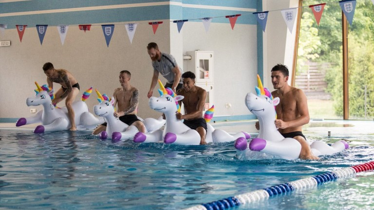 Футболистите от националния отбор на Англия се отдадоха на заслуженапочивка
