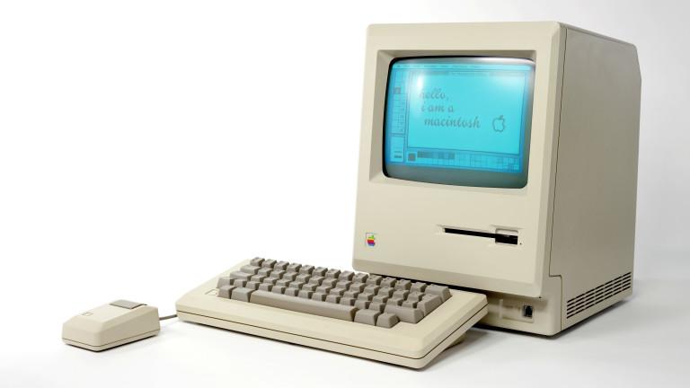 Култовият Macintosh 128k е пряк прароднина на iMac - по дизайн и концепция