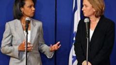 Райс в Израел, подготвя тристранна среща с Олмерт и Абас
