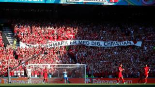 Англия със страхотен жест към Кристиан Ериксен преди срещата с Дания