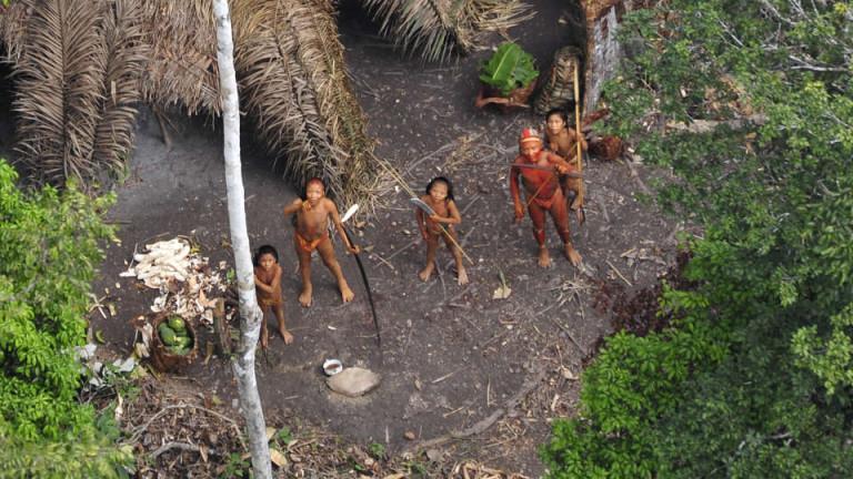 Дрон засне непознато племе в Амазония