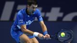 Новак Джокович се класира на 1/2-финал в Лондон