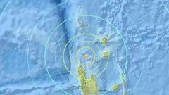 Земетресение 6,9 по Рихтер до Вануату в Тихия океан