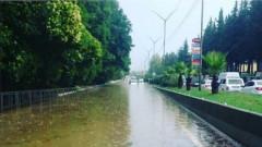 Наводнение в Сочи часове преди началото на Русия - Хърватия
