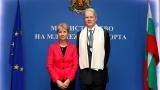 Министър Дашева и Н.Пр. Ерик Льобедел ще разширяват сътрудничеството в областта на спорта и младежта