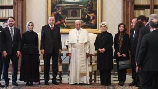На историческа среща във Ватикана Ердоган и папата потвърдиха статута на Йерусалим