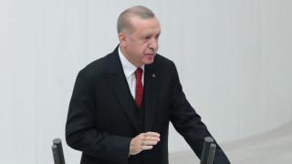 Ердоган пред кипърските турци: В Кипър има два народа и две държави