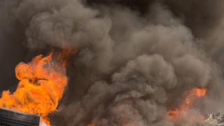 Пожар изпепели цех за хидроизолации в Русе