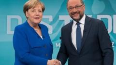 Меркел и Шулц в телевизионен сблъсък преди вота