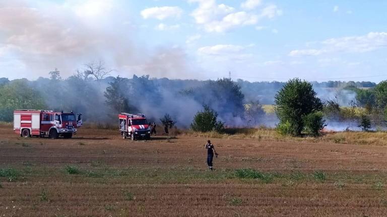 Пожар унищожи 50 тона фураж близо до АМ