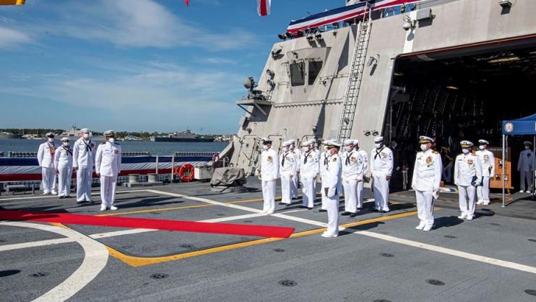 Американските военноморски сили въведоха на въоръжение нов боен кораб -