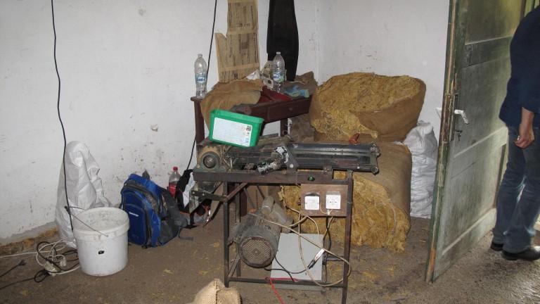 """Разкриха домашна работилница за тютюн в """"Столипиново"""""""
